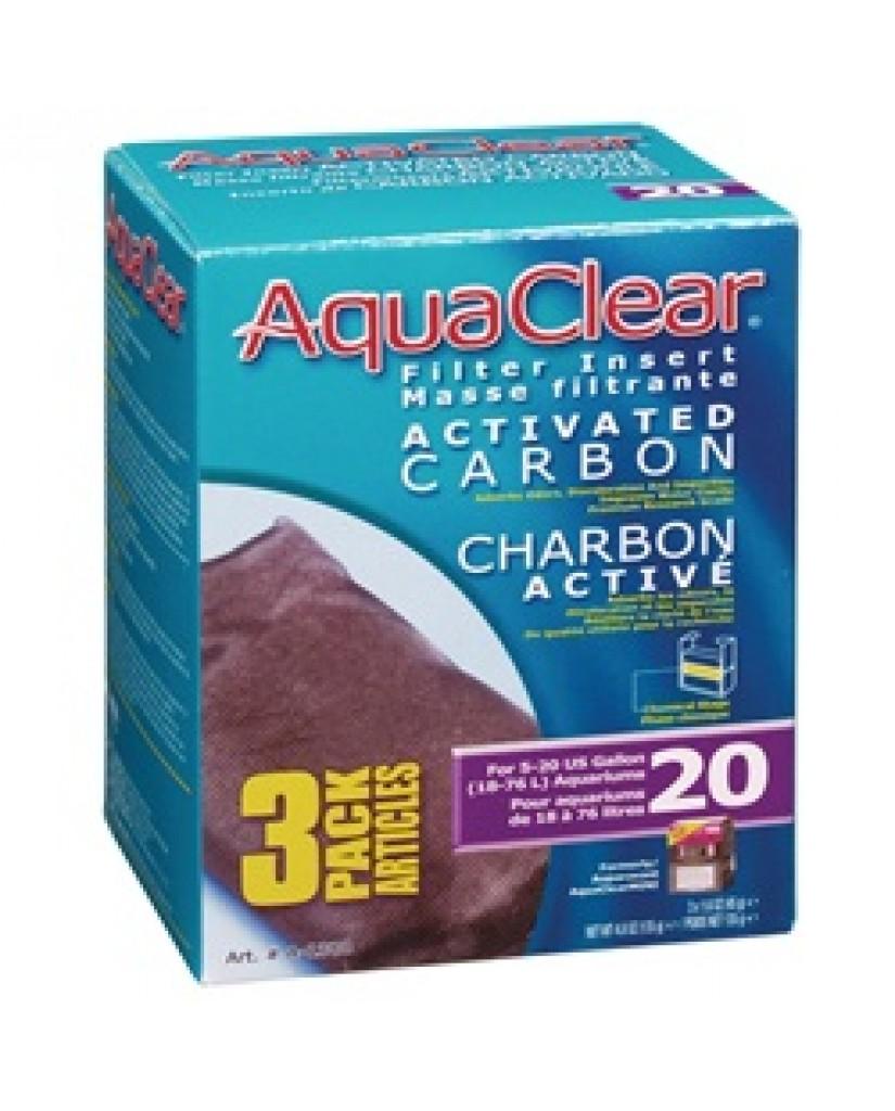 Aqua Clear | Masse filtrante de charbon activé 20 pour aquarium de 18 à 76 litres