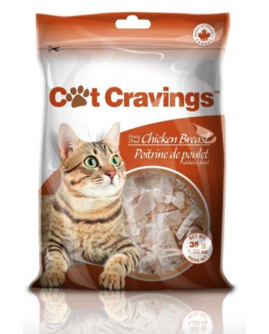 Cat Cravings | Gâterie naturelle séchée à froid pour chat - Poitrine de poulet / 35g