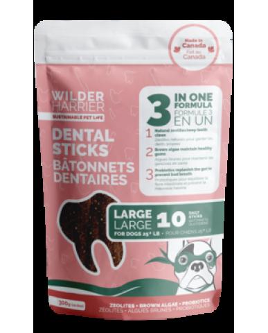 WILDER HARRIER | Bâtonnet dentaire 3 en 1 pour chien - grand / 300g
