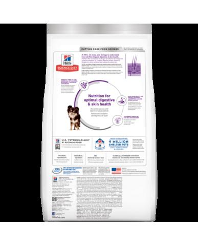 HILL'S | Science diet | Nourriture pour chien peau & estomac sensibles - petite race & mini - Poulet / 4 lbs