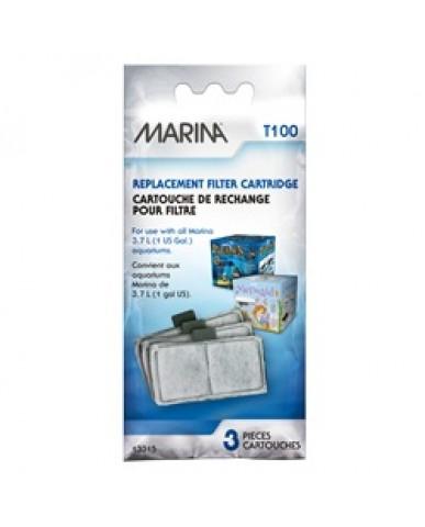 Marina - Cartouche de rechange pour filtre d'aquariums 3,7 litres - Pqt de 3