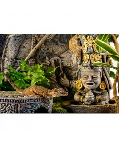 EXO TERRA | Cachette aztèque en forme de Pierre du Soleil / petit