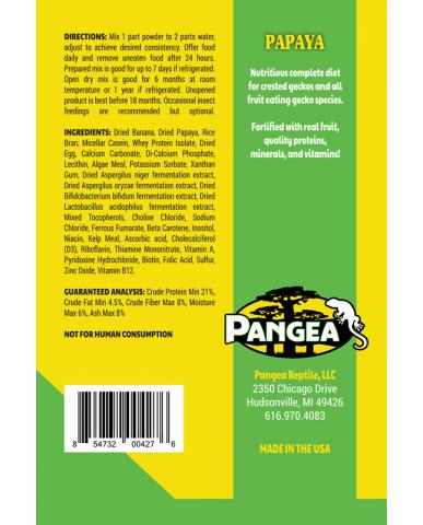 Pangea | Nourriture pour gecko à crête - Papaye / 2 oz (56g)