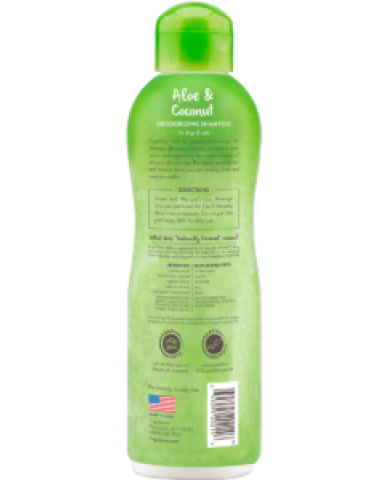 TROPICLEAN | Shampooing pour animaux de compagnie - Aloès & coco / 592 ml