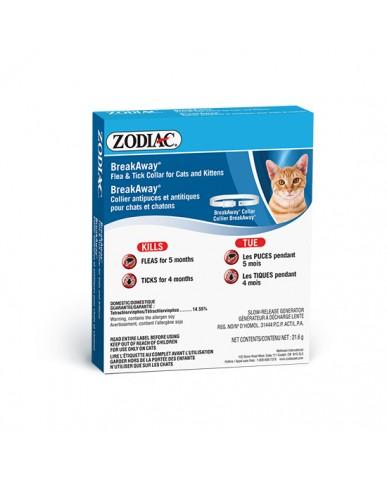 ZODIAC   Breakaway -  Collier contre les puces & les tiques pour chat & chaton
