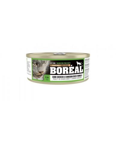 BORÉAL | Nourriture pour chat en conserve - Poulet de chair cobb & canard canadien / 156g (5.5 oz)