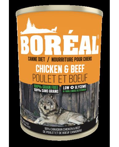 BORÉAL | Nourriture pour chien en conserve - poulet & boeuf / 690g (24 oz)