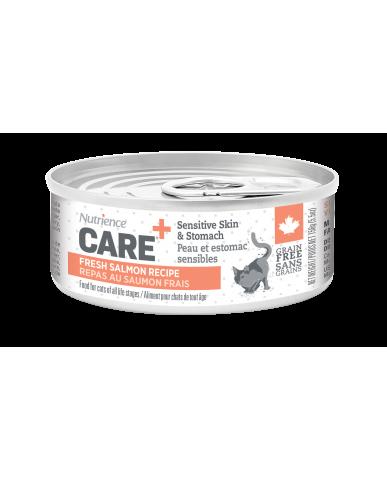 NUTRIENCE CARE | nourriture pour chat en conserve - peau et estomac sensibles / 156g (5.5 oz)