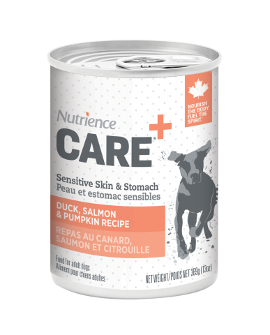 NUTRIENCE CARE | Nourriture pour chien en conserve - peau et estomac sensibles / 369g (13 oz)