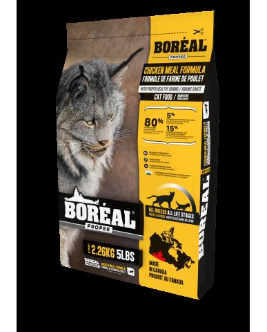 BORÉAL PROPER | Nourriture pour chat avec céréales faibles en glucides - farine de poulet / 2.27 kg (5 lbs)