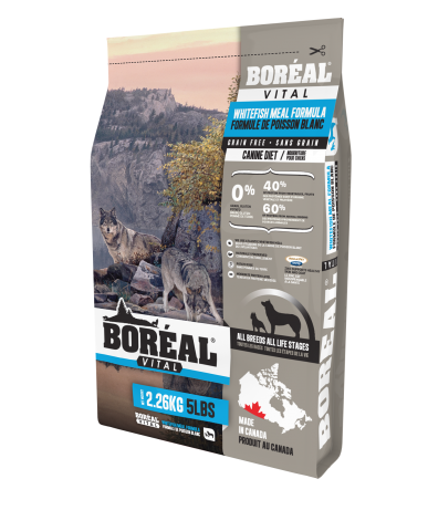 BORÉAL VITAL | nourriture pour chien - farine de poisson blanc / 2.27 kg (5 lbs)