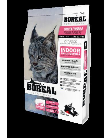 BORÉAL FUNCTIONAL | nourriture pour chat d'intérieur - Poulet / 2.26 kg (5 lbs)
