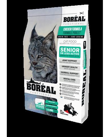 BORÉAL FUNCTIONAL | nourriture pour chat âgé et moins actif - Poulet / 2.26 kg (5 lbs)