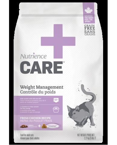 NUTRIENCE CARE | Nourriture pour chat - contrôle du poids / 2.27 Kg (5 lbs)