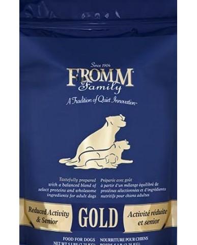 FROMM | GOLD - NOURRITURE POUR chien adulte âgé et moins actif / 2.3 KG (5 LBS)