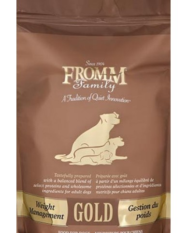 FROMM | GOLD - NOURRITURE POUR chien adulte - gestion du poids / 2.3 KG (5 LBS)