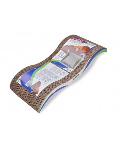 VAN NESS - Planche à griffer ondulée avec herbe