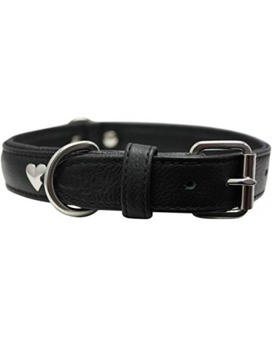 """ANGEL   Collier pour chien """"rotterdam hearts"""" - cuir"""