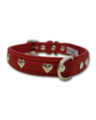 "ANGEL | Collier pour chien ""rotterdam hearts"" - cuir"
