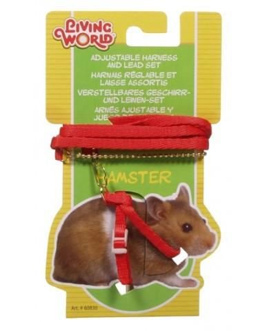 living world | Laisse & harnais ajustable pour hamster